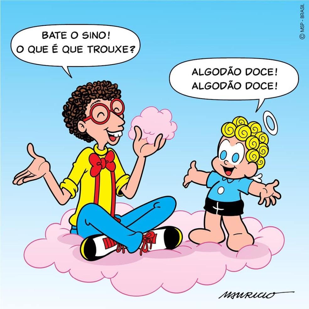 Mauricio de Sousa faz cartum em homenagem a Daniel Azulay — Foto: Divulgação / Mauricio de Sousa