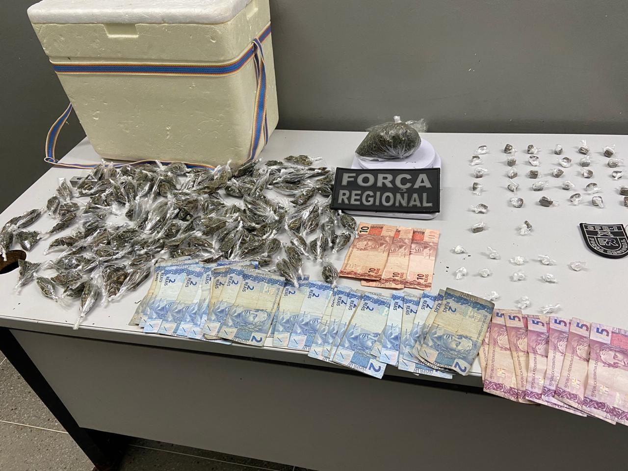 Drogas que eram vendidas em isopor são aprendidas pela polícia, em Campina Grande