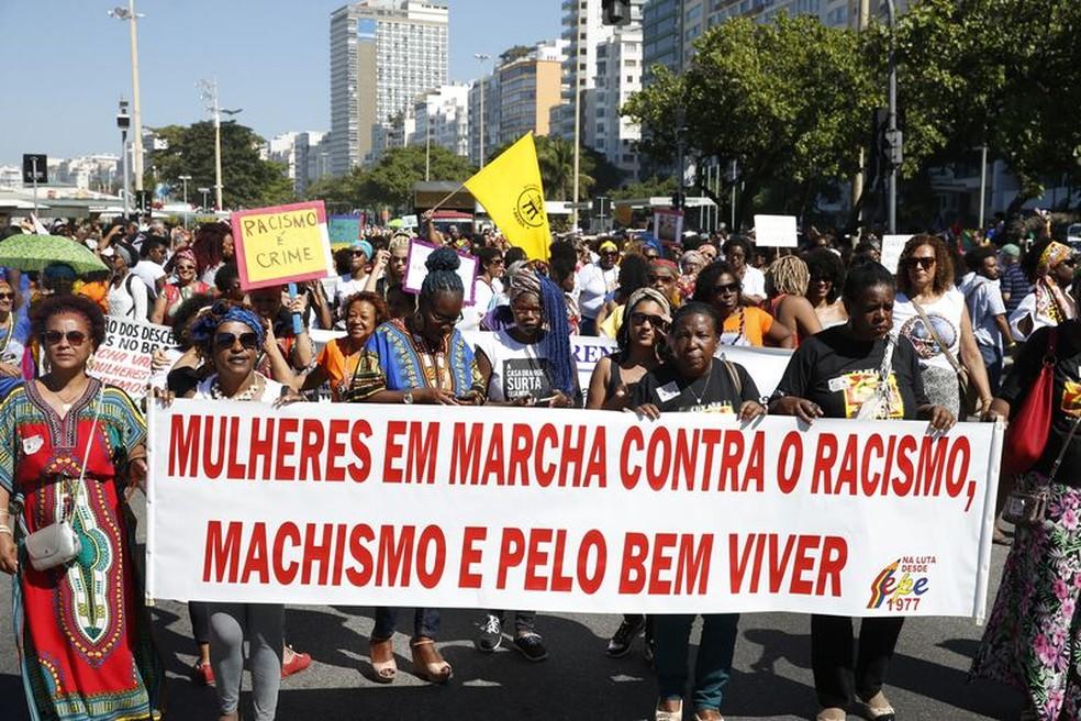 Marcha das Mulheres Negras no Rio de Janeiro, em julho (Foto: Tânia Rêgo/Agência Brasil)