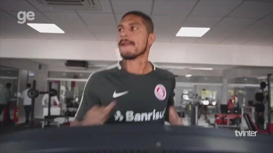 Guerrero inicia preparação para estreia e faz exercícios físicos em 1º treino pelo Inter