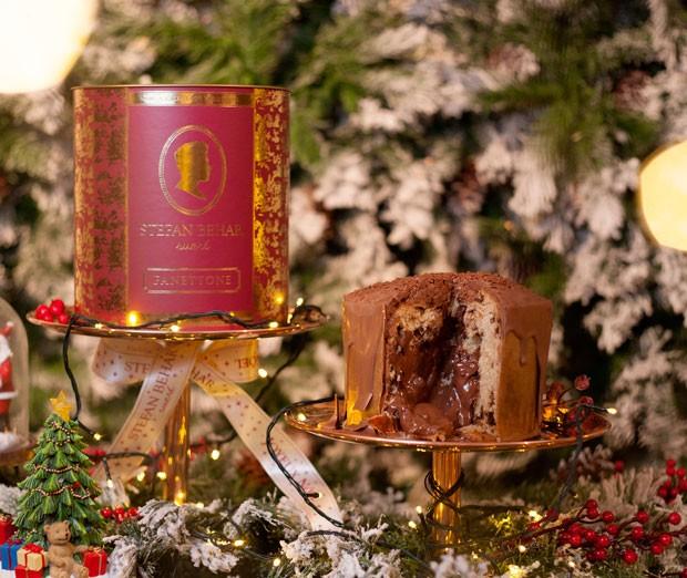 Panetone de chocolate recheado de Nutella (Foto: João Bertholini)