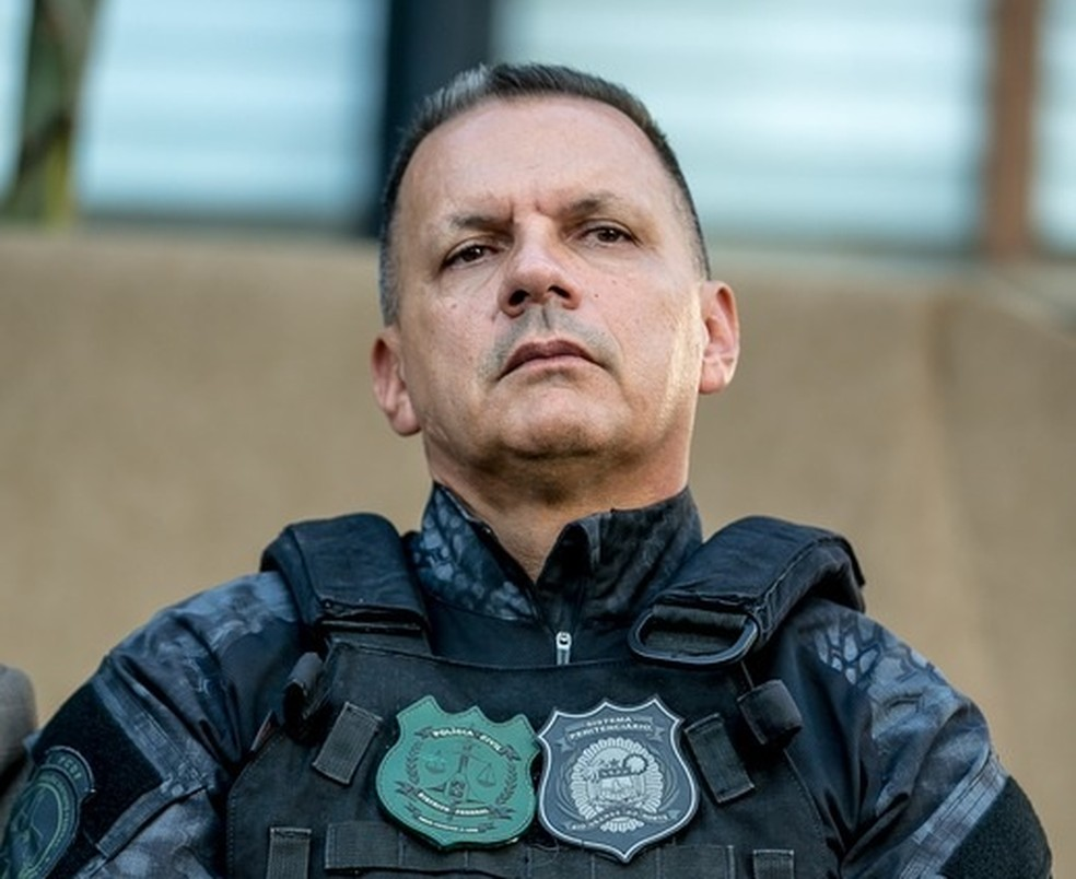 Secretário Mauro Albuquerque ganhou fama de linha dura entre criminosos após ação no sistema penitenciário de Rio Grande do Norte — Foto: Camila Lima/SVM