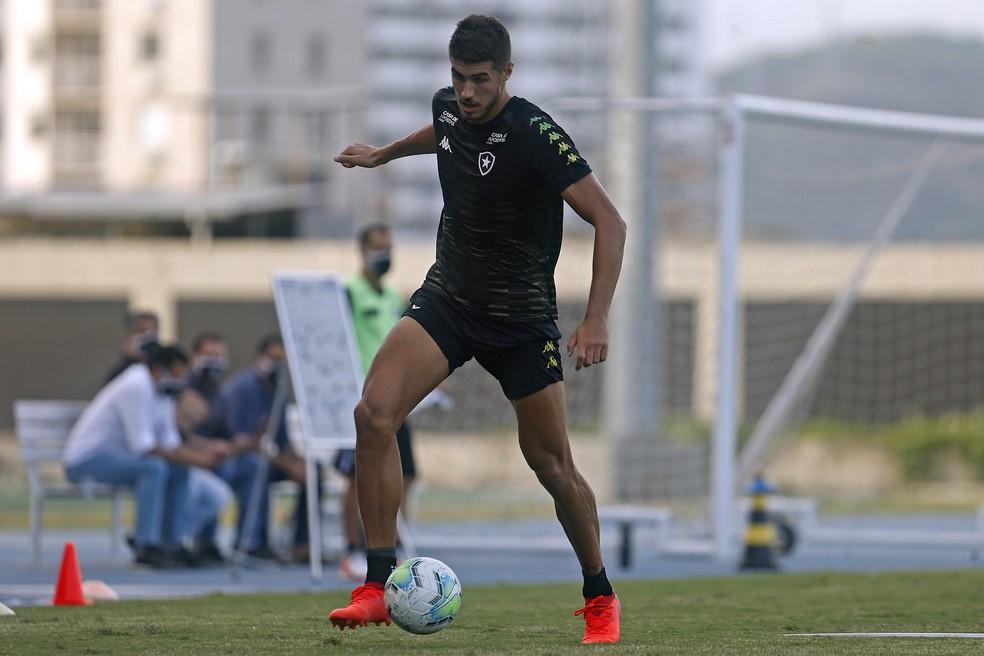 Pedro Raul vê com bons olhos a parceria com Matheus Babi no ataque — Foto: Vitor Silva/Botafogo
