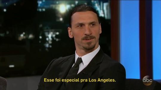 Em programa americano, Ibrahimovic fala sobre golaço e desafio de defender LA Galaxy