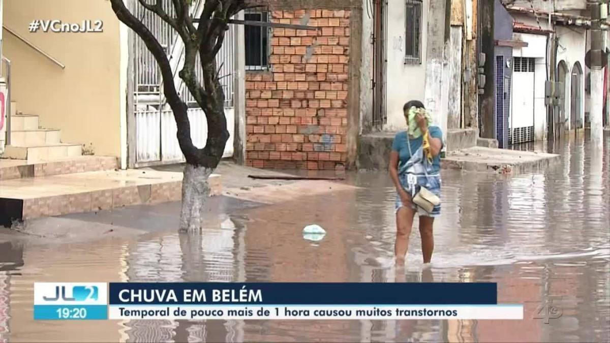 Tempestade causa transtorno e alagamentos na Grande Belém