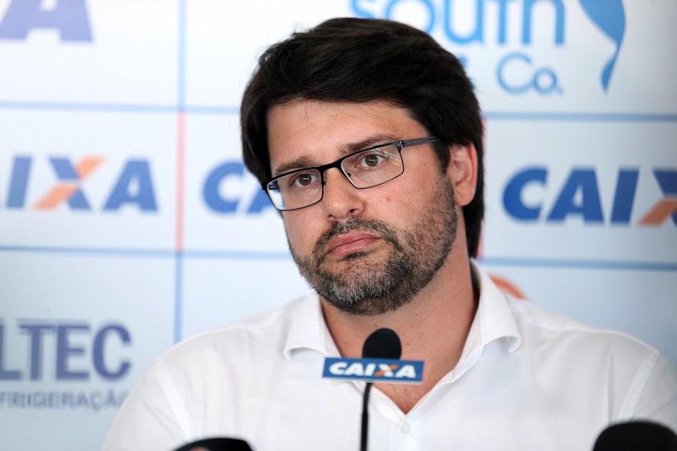 Guilherme Bellintani contou que o Bahia deve investir em jovens com idade abaixo dos 23 anos — Foto: Felipe Oliveira/Divulgação/EC Bahia