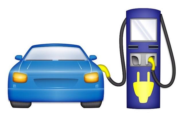 Emoji carro elétrico com carregador (Foto: Electrify America)