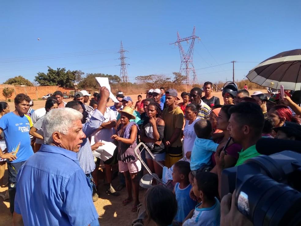 Reintegração de posse foi cumprida nesta terça-feira (3) (Foto: Leandro Trindade/TVCA)