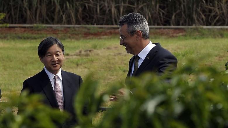 Príncipe Naruhito visita a Embrapa Cerrados (Foto: Marcello Casal Jr/Agência Brasil)