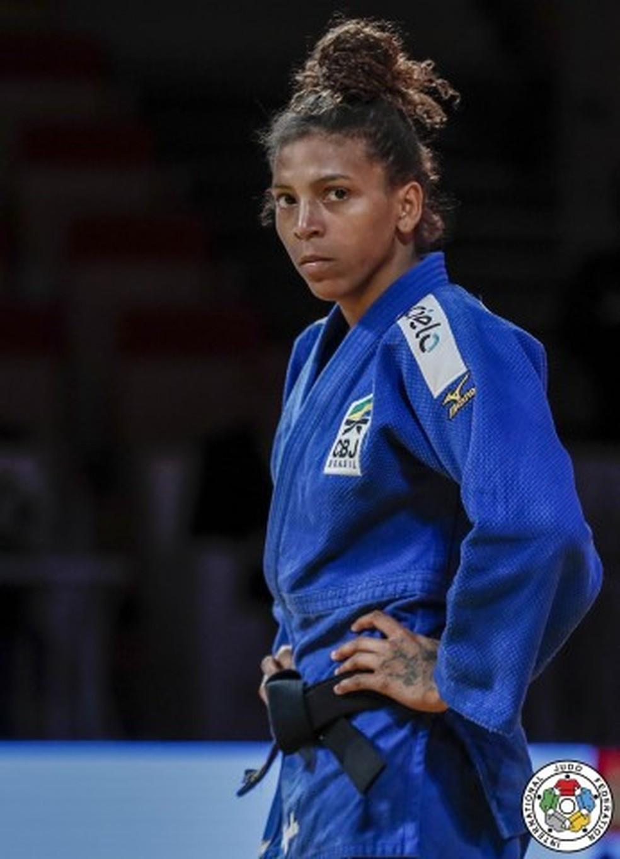 Rafaela Silva no Grand Slam de Paris — Foto: Divulgação IJF