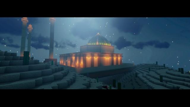 Reconstrução de monumentos históricos são feitas com jogo Minecraft da Microsoft que trabalha com blocos para criar imagens de obras arquitetônicas (Foto: Divulgação)