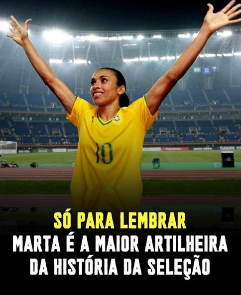 Post de Samara Felippo no Instagram sobre a jogadora Marta (Foto: Reprodução)