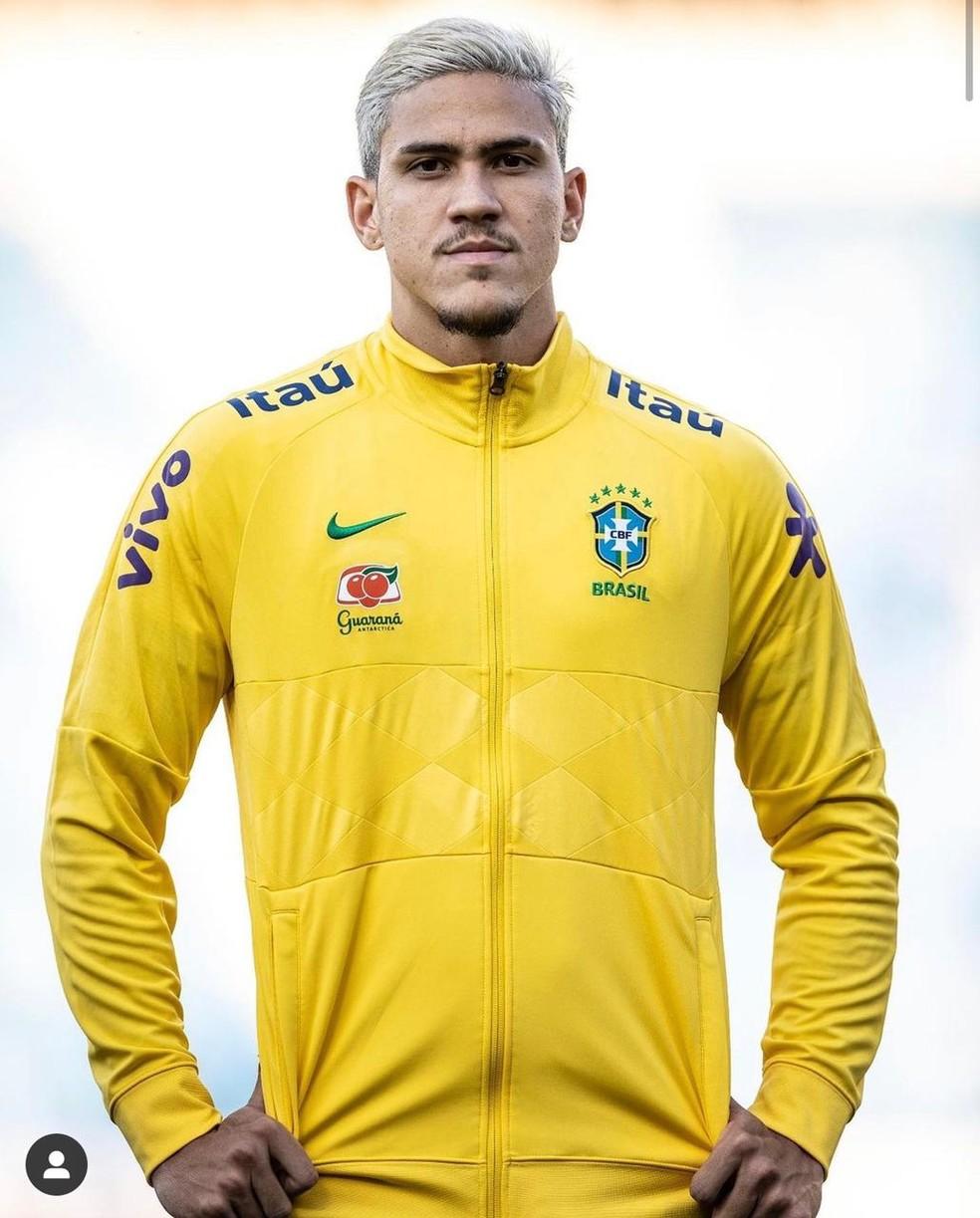 Pedro pela seleção olímpica — Foto: Ricardo Nogueira / CBF
