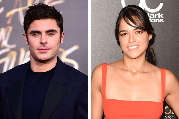 Zac Efron e Michelle Rodriguez (Foto: Getty Images)