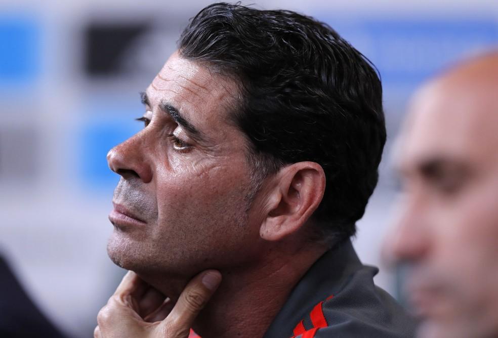 Fernando Hierro, novo técnico da Espanha na Copa 2018 (Foto: Manu Fernandez/AP)