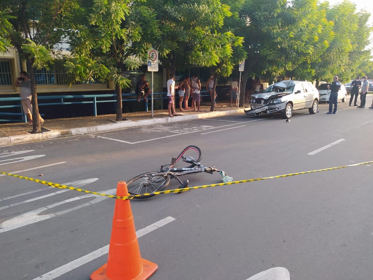 Ciclista morre após ser atropelado por automóvel na Zona Sul de Teresina