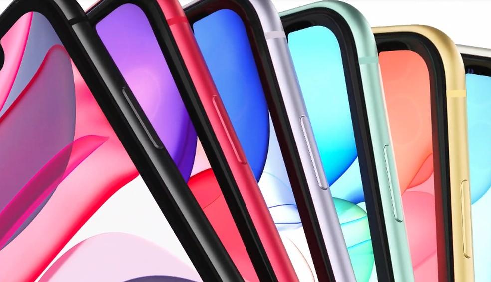 As cores do iPhone 11 — Foto: Reprodução/Apple
