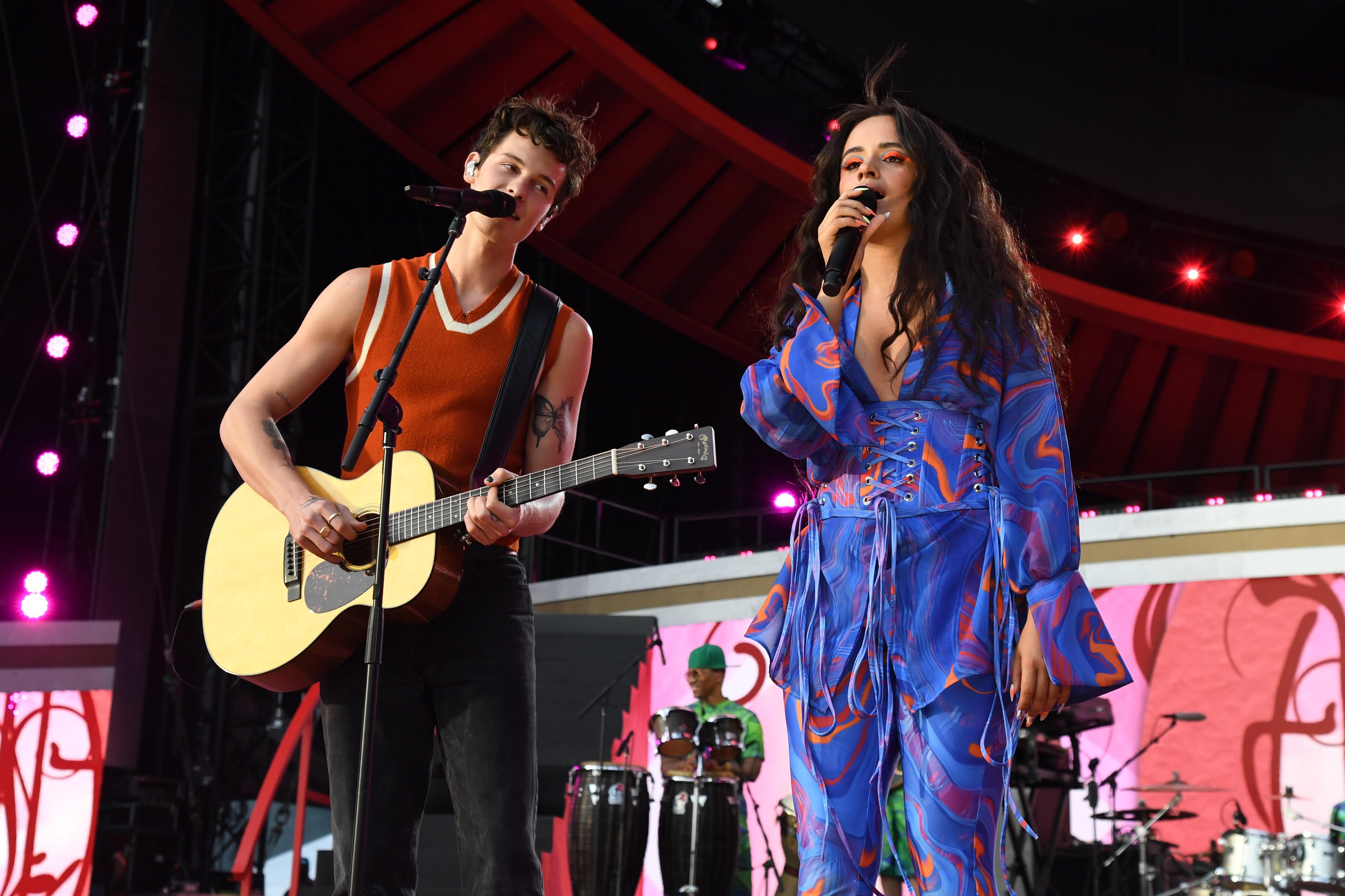 Shawn Mendes e Camila Cabello se apresentaram no Global Citizen 2021 (Foto: Getty Images)