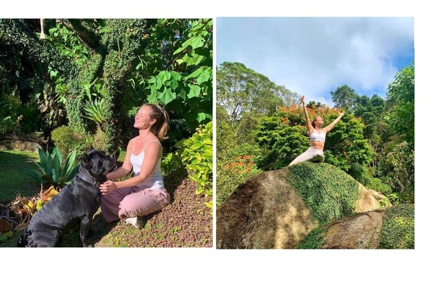 Paolla Oliveira no jardim do sítio (Foto: Reprodução/Instagram)