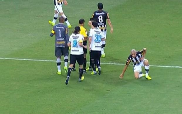 Dória Botafogo x Grêmio (Foto: Reprodução SporTV)