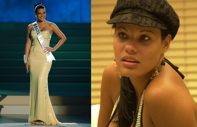 Josiane, aliás, perdeu sua coroa de Miss Brasil 2002 por deixar escapar durante o reality que era casada. Segundo as regras do concurso, as concorrentes devem estar solteiras (Foto: Reprodução)