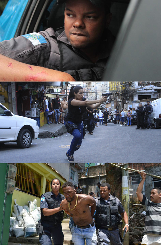 Cenas externas de ARep, referência à expressão policial para ação repressiva (Foto: CÉLIO DE ALCÂNTARA)