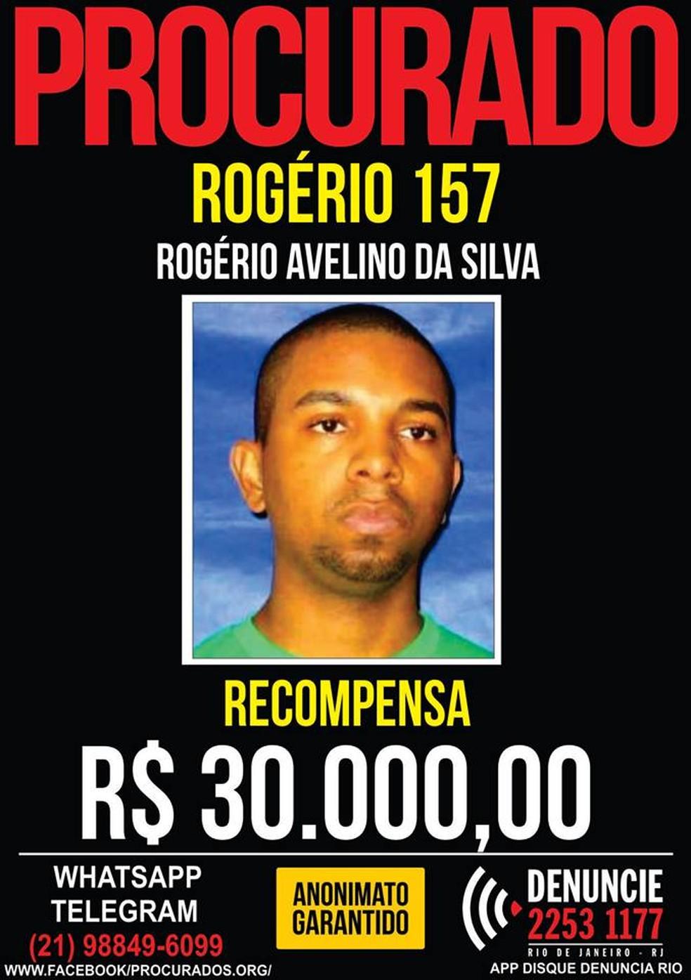 Disque Denúncia pede informações sobre atual chefe do tráfico na Rocinha (Foto: Disque Denúncia/Divulgação)