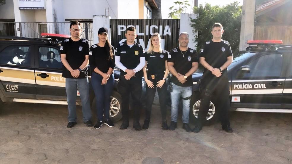 Policiais que participaram do cumprimento das ordens judiciais nesta terça (11) — Foto: Polícia Civil / Divulgação