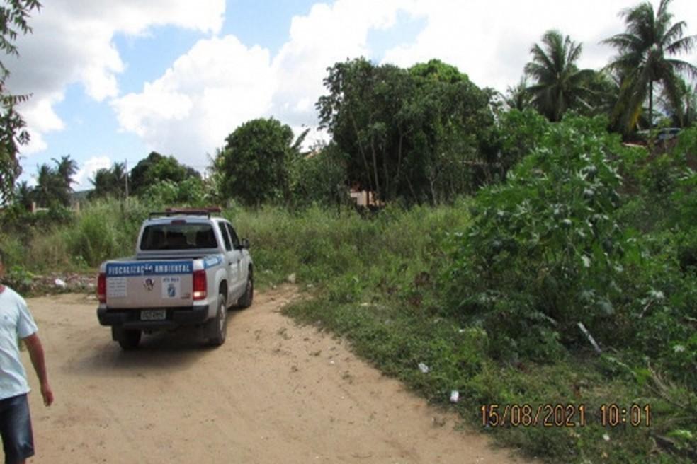 Donos de terrenos baldios são autuados por descaso ambiental em Natal — Foto: Divulgação/Semurb