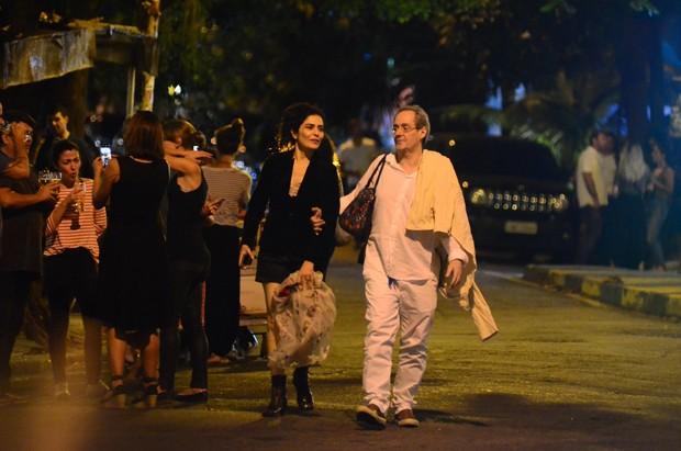 Letícia Sabatella e Daniel Dantas (Foto: Webert Belicio / AgNews )