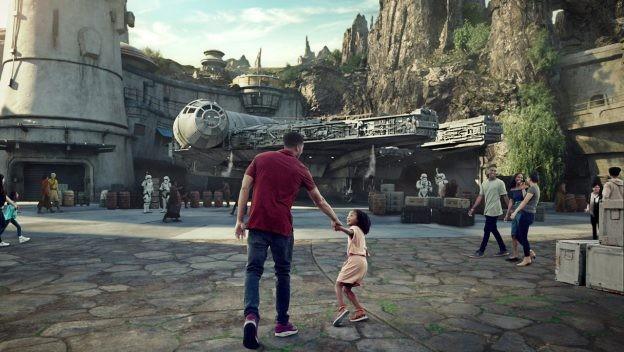 Representação da área de  Star Wars nos parques da Disney (Foto: Disney/Divulgação)
