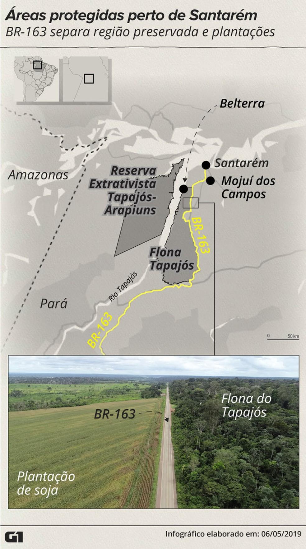 Unidades de Conservação próximas a Santarém — Foto: Rodrigo Sanches/G1