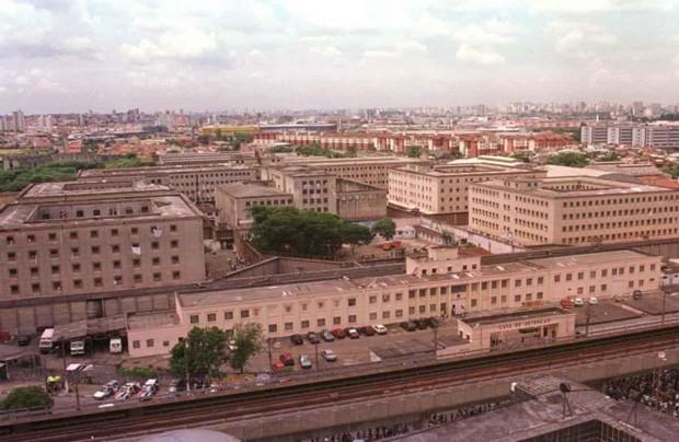 Vista de cima do presídio Carandiru, hoje desativado (Foto: Reprodução)