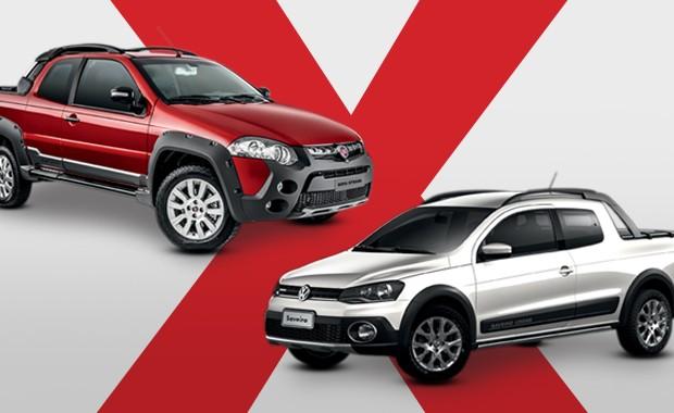 Vw Saveiro Cross X Fiat Strada Adventure Qual Cabine