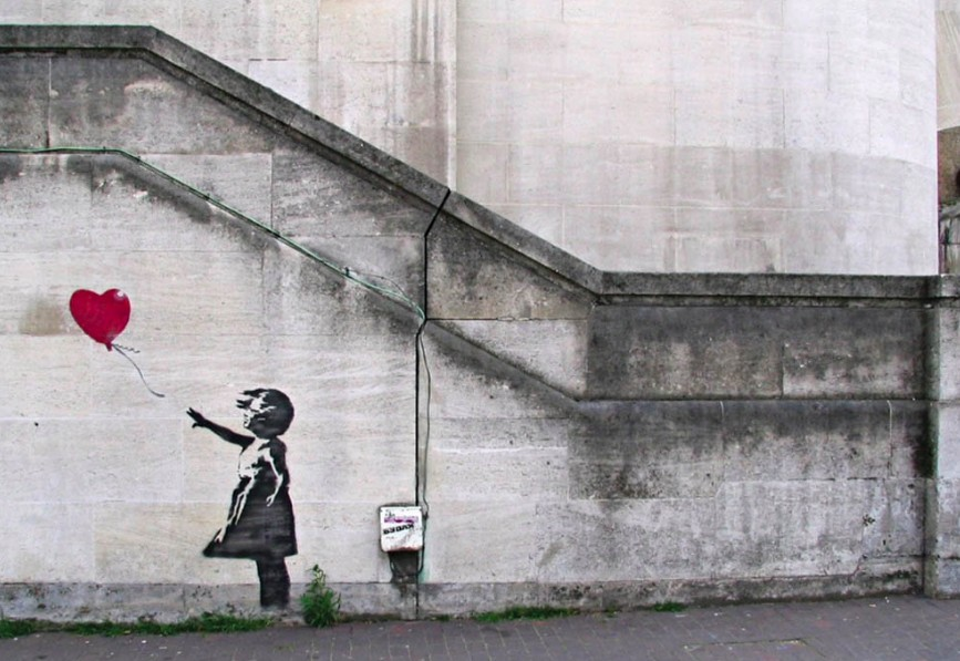 O grafitti original, em Londres (Foto: Reprodução)