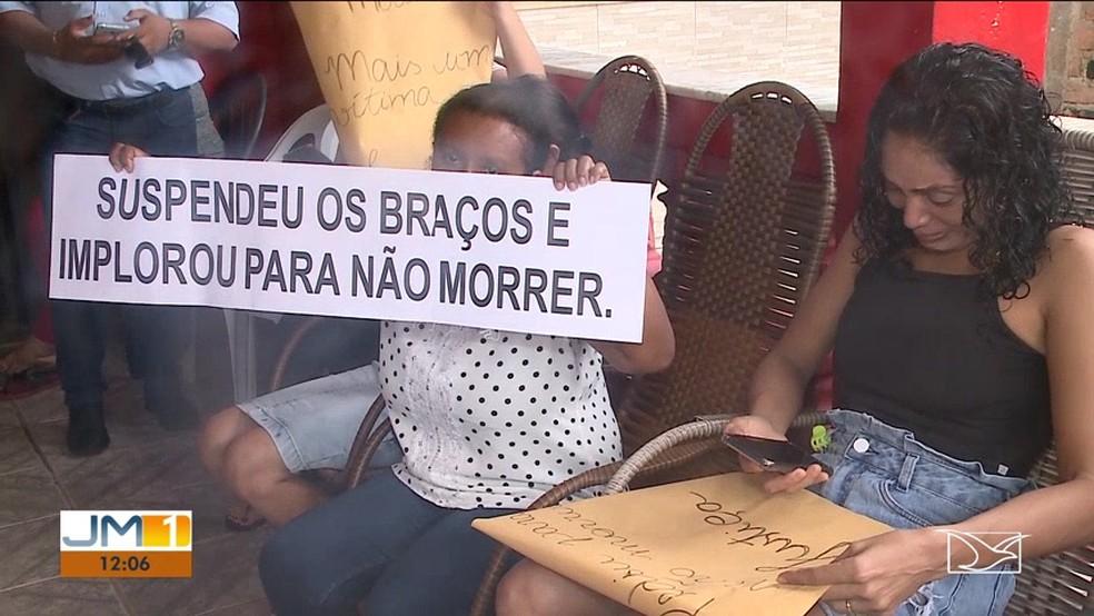 Família do jovem diz que ele chegou a pedir para não morrer. — Foto: Reprodução/TV Mirante