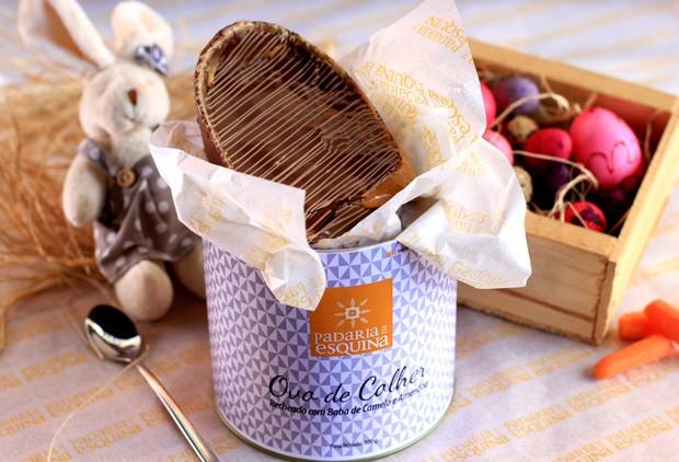 Ovo de Páscoa com baba de caramelo, da Padaria da Esquina (Foto: Divulgação)