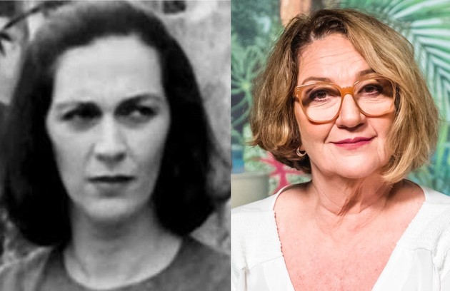 Rosane Gofman era Cinira, uma das beatas seguidoras de Perpétua. O trabalho mais recente da atriz foi em 'A dona do pedaço' (2019) (Foto: TV Globo)