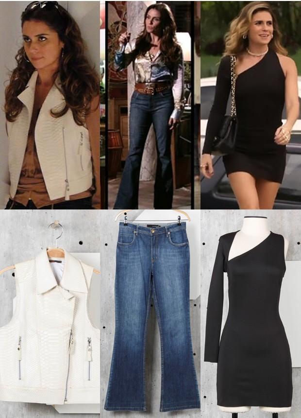 Giovanna Antonelli leiloa roupas e acessórios, incluindo peças de personagens (Foto: Divulgação/TV Globo e Divulgação/Enjoei)