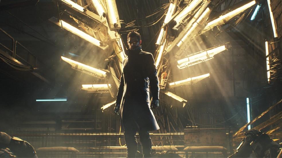 Deus Ex: Mankind Divided traz a continuação da jornada de Adam Jensen na PS Plus de janeiro (Foto: Reprodução/PlayStation)
