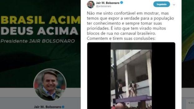 Postagem polêmica em conta de Bolsonaro foi apagada (Foto: Reprodução)