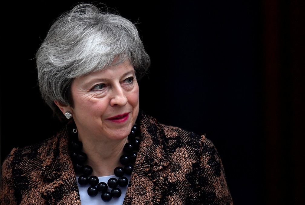 A premiê britânica, Theresa May, em Londres — Foto: Toby Melville/Reuters