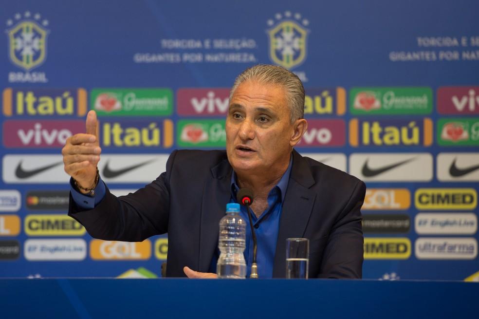 Tite durante convocação da seleção brasileira (Foto:  Pedro Martins / MoWA Press)