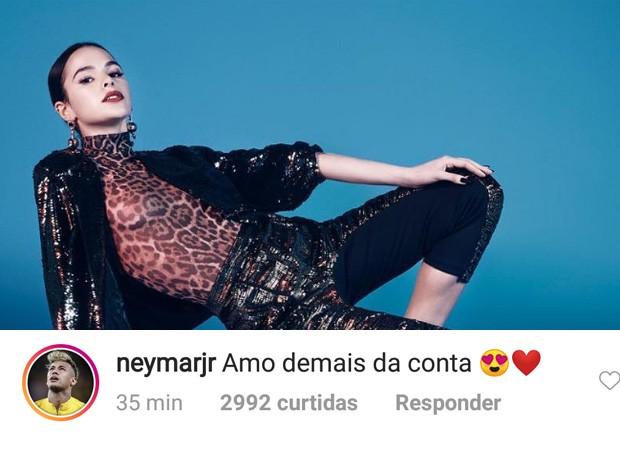 Neymar se declara para Bruna Marquezine (Foto: Reprodução/nstagram de foto de Gil Inoue para a Vogue Brasil)