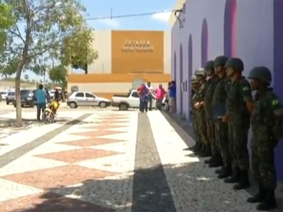 Tropas federais devem atuar em 97 municípios do RN no segundo turno das eleições 2014 (Foto: Reprodução/Inter TV Cabugi)