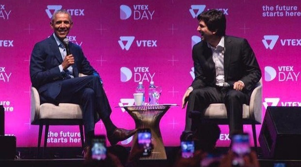 O ex-presidente dos EUA Barack Obama participa da convenção de varejo Vtex Day (Foto: Reprodução/Instagram)