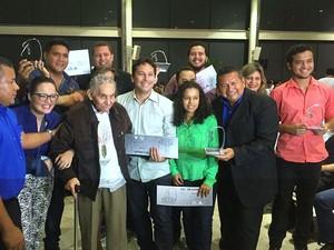 Prêmio Milton Cordeiro reuniu jornalistas em Manaus (Foto: Sérgio Rodrigues/G1 AM)