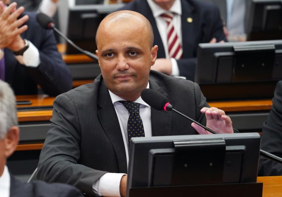 O deputado Major Vitor Hugo (PSL-GO), líder do governo na Câmara — Foto: Pablo Valadares/Câmara dos Deputados