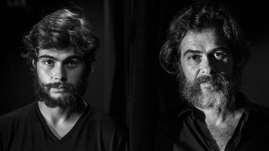 Rafael e João Vitti fazem peça juntos e falam da relação de pai e filho dentro e fora de cena