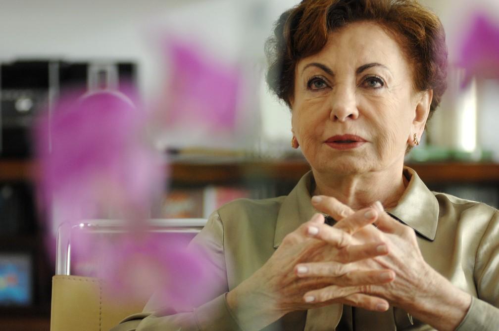 A atriz Beatriz Segall durante entrevista na capital paulista, em 2011 (Foto: Thiago Teixeira/Estadão Conteúdo)